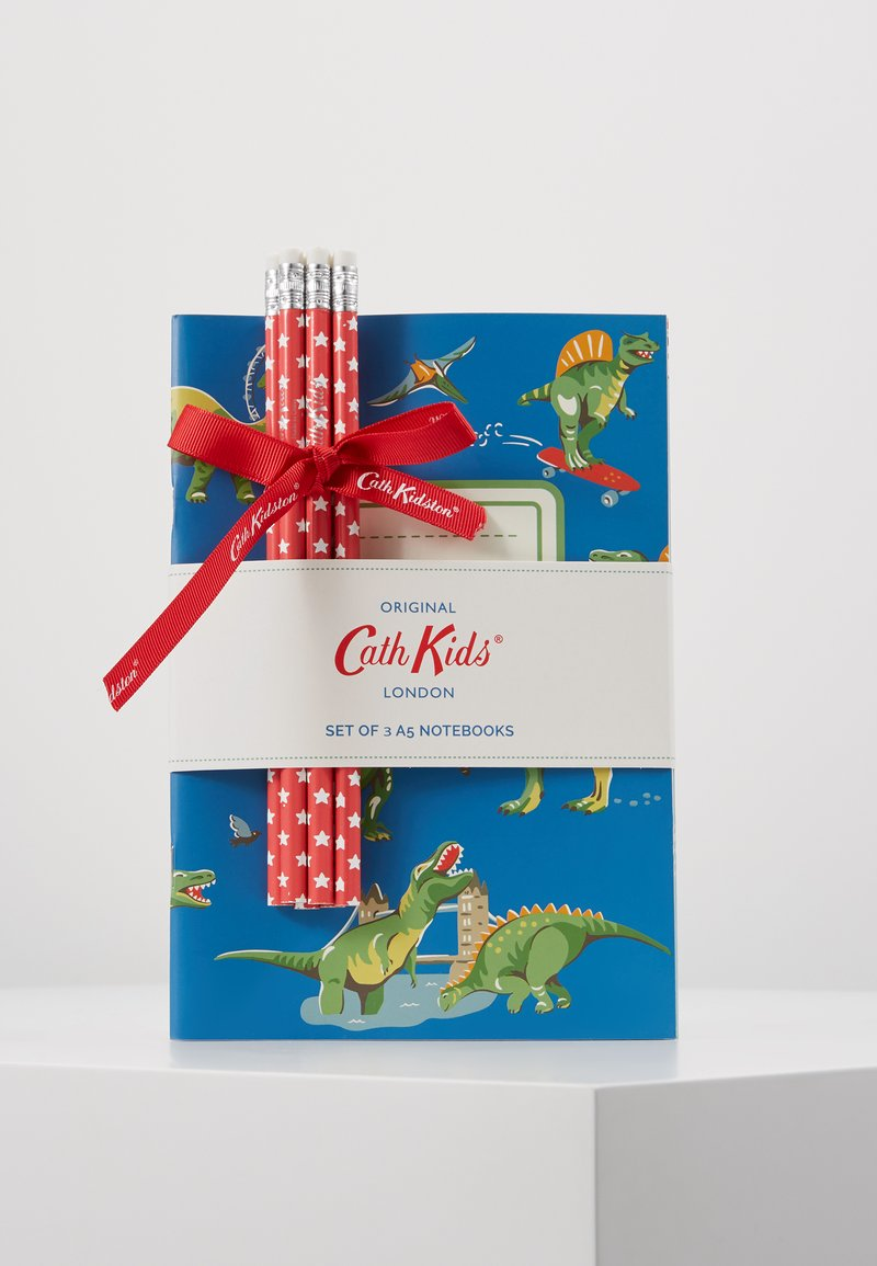 Cath Kidston - DINOS IN LONDON KIDS 3 PACK NOTEBOOKS - Accessoires - cadet blue
