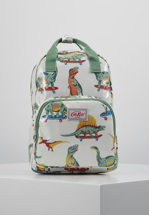 MED BACKPACK SKATEBOARD DINO - Reppu - white/green