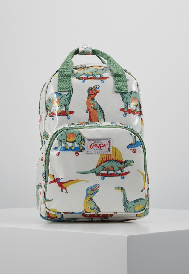 MED BACKPACK SKATEBOARD DINO - Rugzak - white/green