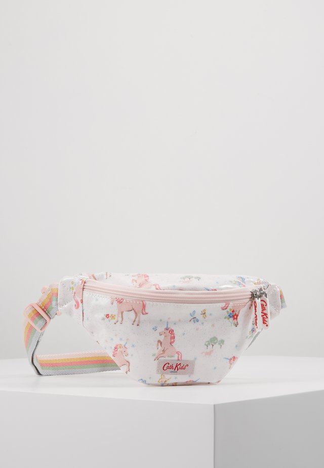KIDS BUMBAG UNICORN MEADOW - Gürteltasche - white/light pink
