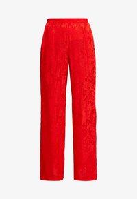 Cortefiel - WIDE LEG TROUSERS - Spodnie materiałowe - reds - 3