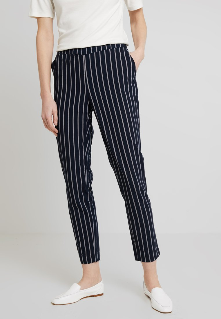 Cortefiel - BASIC TROUSERS WITH ELASTIC WAISTBAND - Pantalones - blues