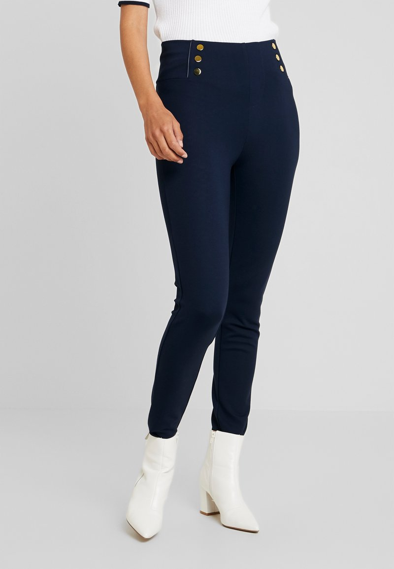 Cortefiel - BASIC WITH BUTTONS - Leggings - Trousers - marine blue