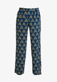 Cortefiel - PRINTED PAPERBAG STRAIGHT TROUSERS - Trousers - teal - 4