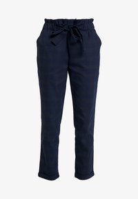 Cortefiel - TEXTURED PAPERBAG FORMAL TROUSERS - Pantalones - blues - 4
