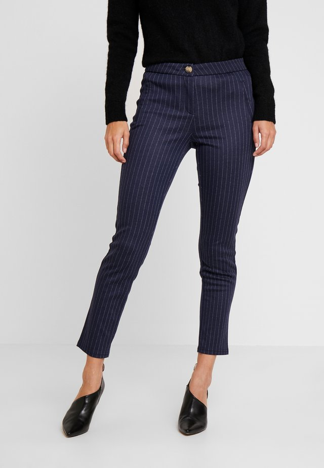PONTE PRINTED SKINNY TROUSERS - Trousers - greys