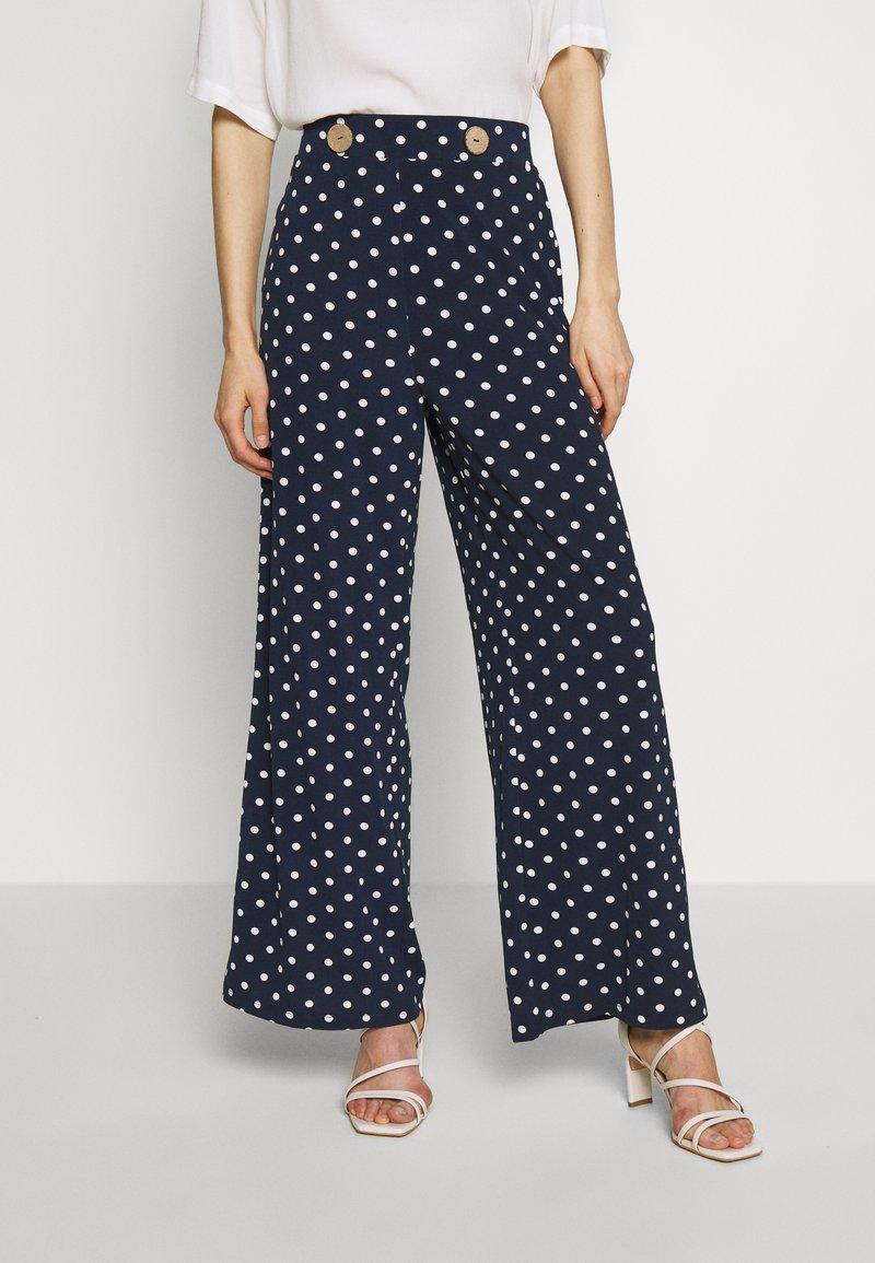 Cortefiel - PALAZZO - Pantalon classique - blue