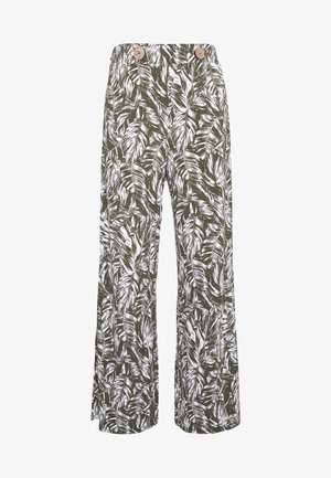 PALAZZO - Trousers - dark khaki
