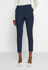 Cortefiel - BASIC SLIM TROUSERS WITH JOGGER WAIST - Chinos - navy - 0