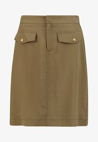 Cortefiel - PENCIL SKIRT WITH FRONT POCKETS - A-line skirt - greens - 3