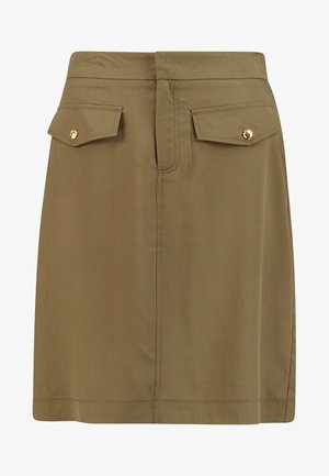PENCIL SKIRT WITH FRONT POCKETS - A-line skirt - greens