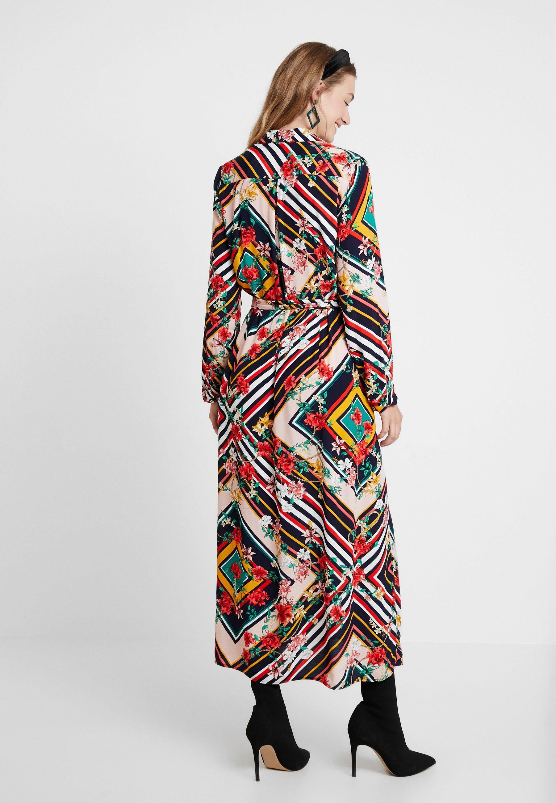 Cortefiel Long Multicoloured Printed DressRobe Longue rdoBCxeW