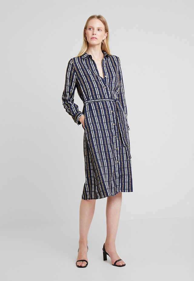 PRINTED SHIRT STYLE DRESS - Vestido camisero - blues