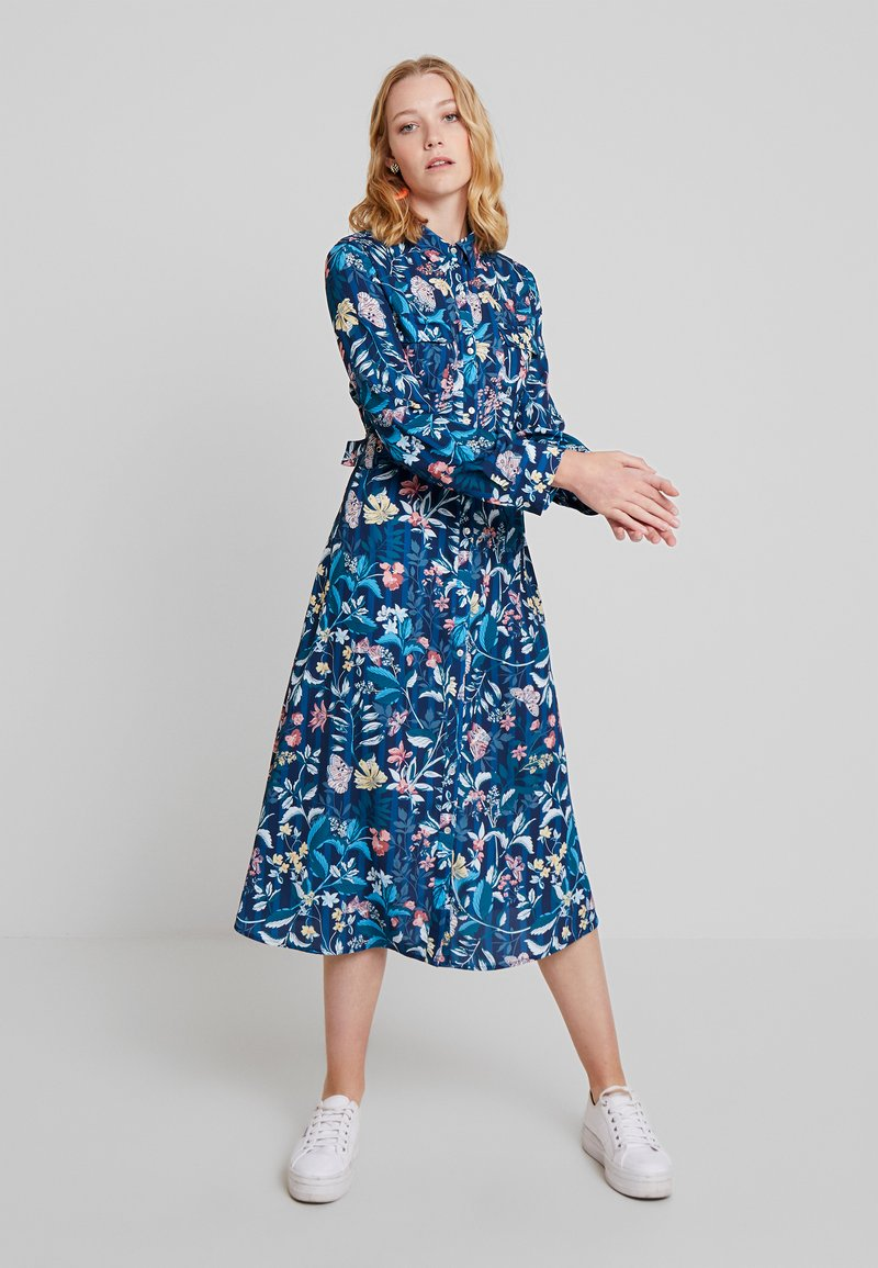 Cortefiel - PRINTED STYLE DRESS WITH BELT - Vestido camisero - several