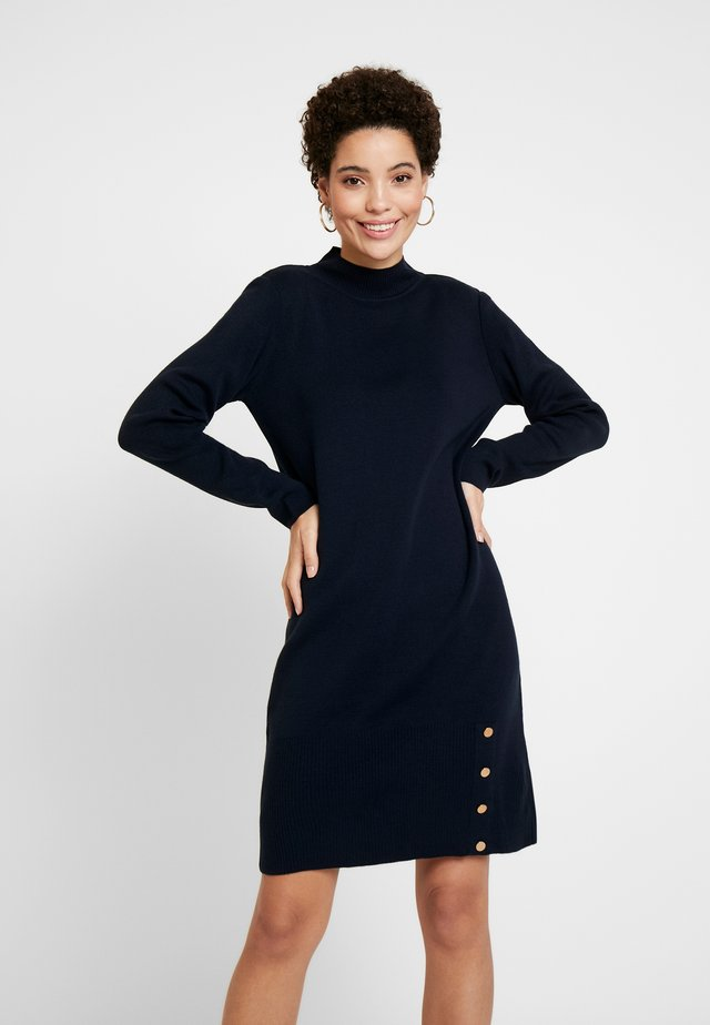 Stickad klänning - marine blue