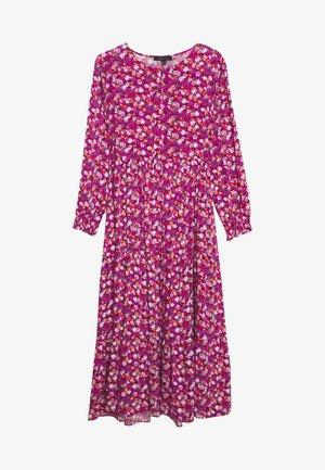 PRINTED LONG FLUID DRESS - Shirt dress - multicoloured