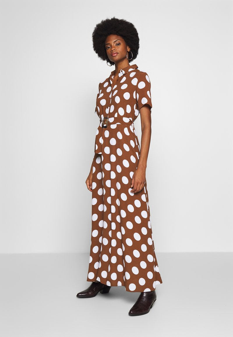 Cortefiel - PRINTED STYLE LONG DRESS - Maxikjole - tan