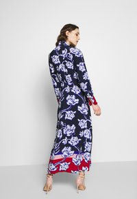 Cortefiel - PRINTED V-NECK LONG DRESS WITH CONTRAST AND CUFFS - Vestido largo - blue - 2