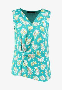 Cortefiel - SLEEVELESS WITH GATHERED FRONT - Bluser - turquoise - 3