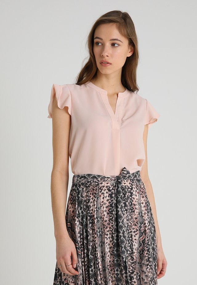 BLOUSE WITH FRILLED SLEEVES - Blus - pink