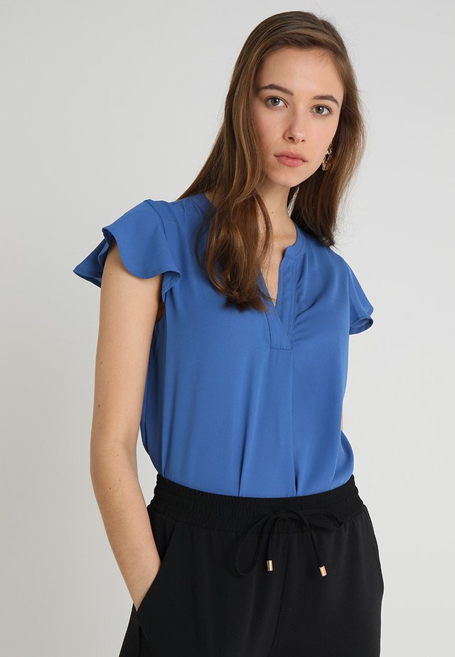 BLOUSE WITH FRILLED SLEEVES - Blusa - blues