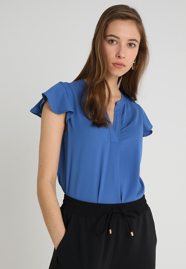 Cortefiel - BLOUSE WITH FRILLED SLEEVES - Bluser - blues