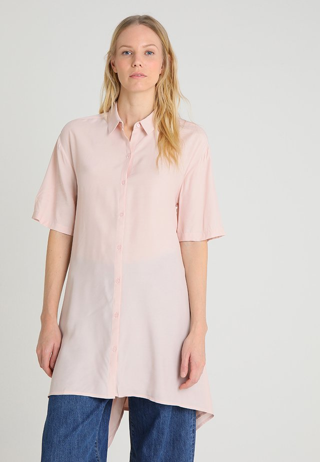 LONG WITH UNEVEN HEM - Button-down blouse - pinks