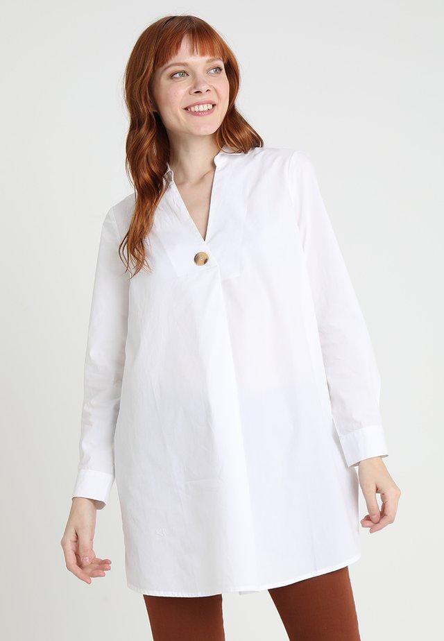 LONG NECK BLOUSE - Bluse - white