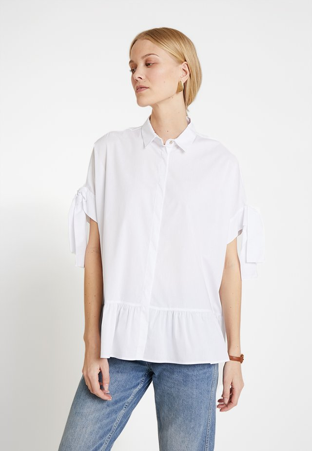 LONG WITH FRILL DETAILS - Overhemdblouse - white