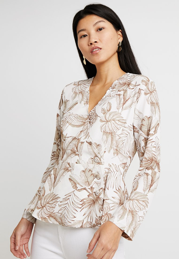 Cortefiel - WRAP STYLE PRINTED BLOUSE - Blusa - several