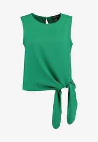 Cortefiel - SLEEVELESS WITH SIDE KNOT DETAIL IN HEM - Blusa - greens - 5