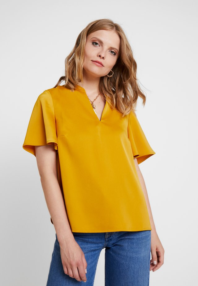 V NECK BLOUSE - Blouse - yellows