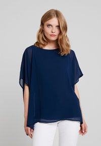 Cortefiel - CREW NECK  AND OVERSIZED - Blusa - marine blue - 0