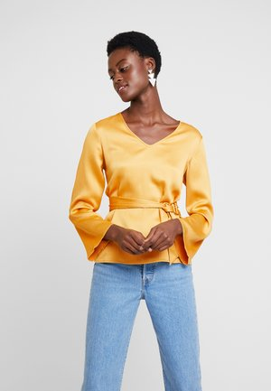 BLOUSE WITH SIDE BOW DETAIL - Blouse - yellow