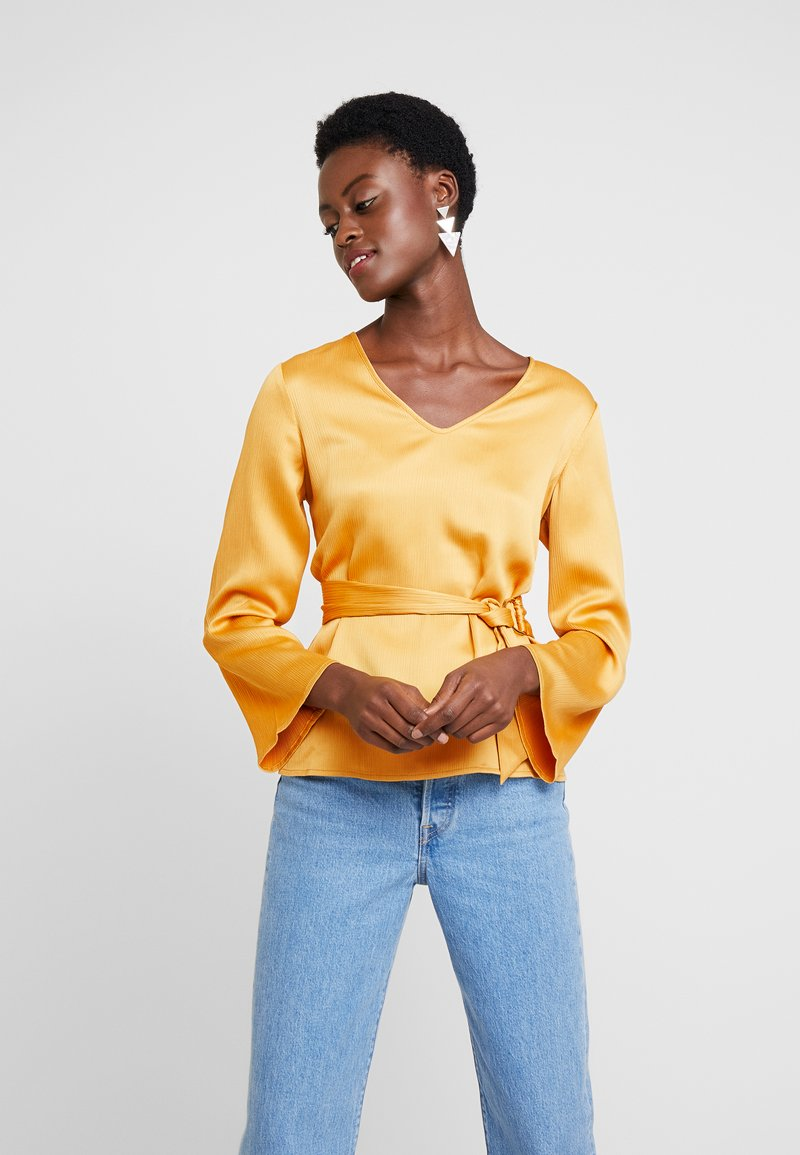 Cortefiel - BLOUSE WITH SIDE BOW DETAIL - Blouse - yellow