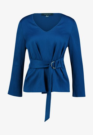 BLOUSE WITH SIDE BOW DETAIL - Bluzka - blues