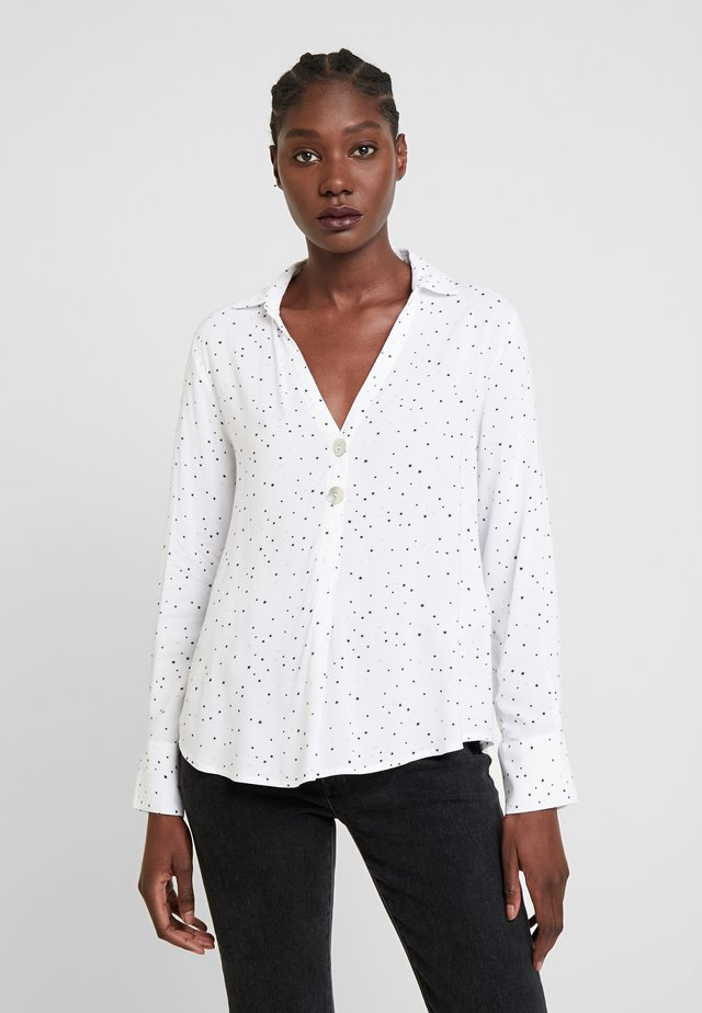 POLO NECK BLOUSE - Blusa - off-white