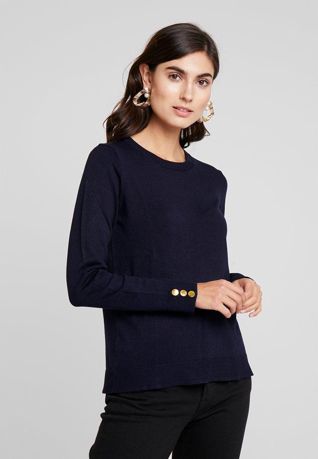 CREW NECK JUMPER - Stickad tröja - marine blue