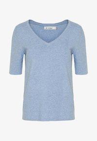 Cortefiel - NECK JUMPER - Camiseta estampada - light blue - 3
