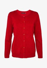 Cortefiel - CREW NECK BASIC - Cardigan - red - 3
