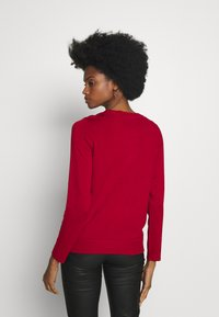 Cortefiel - CREW NECK BASIC - Cardigan - red - 2