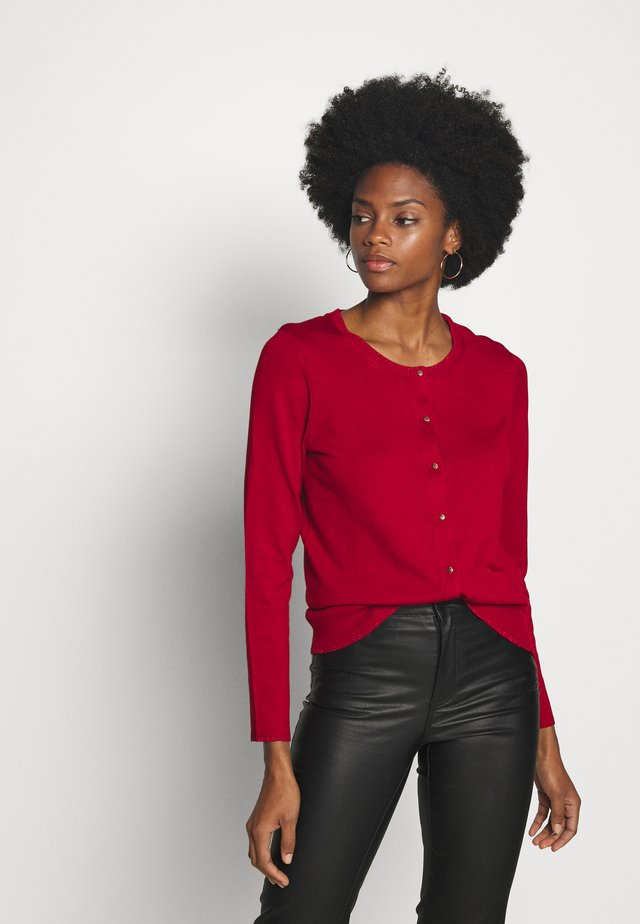CREW NECK BASIC - Strickjacke - red