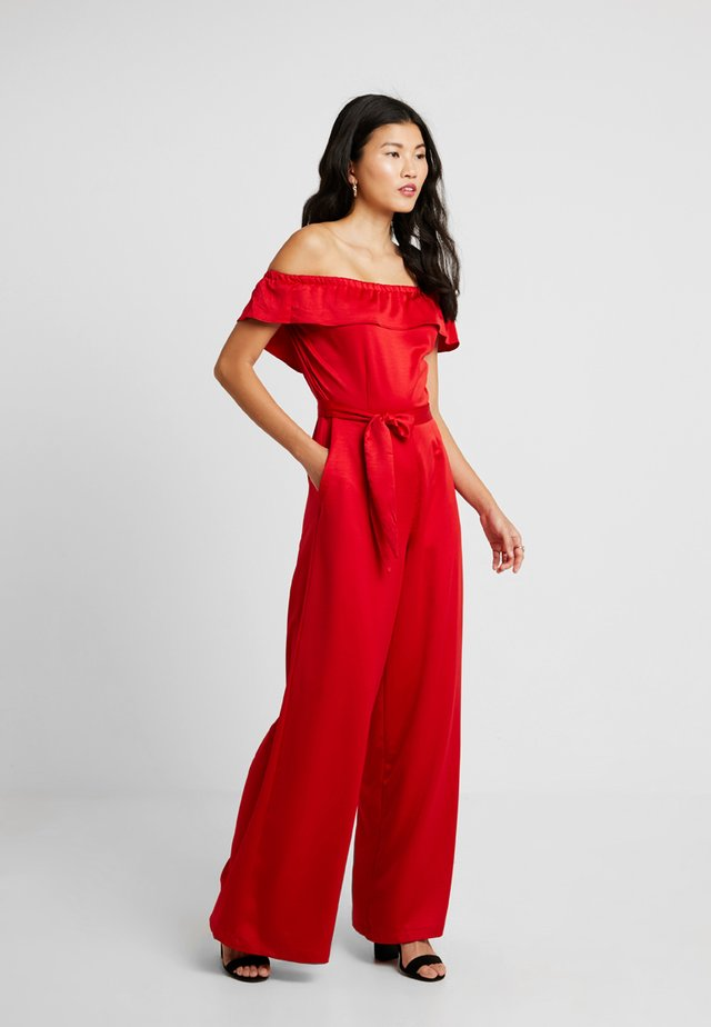 OFF THE SHOULDER - Combinaison - red