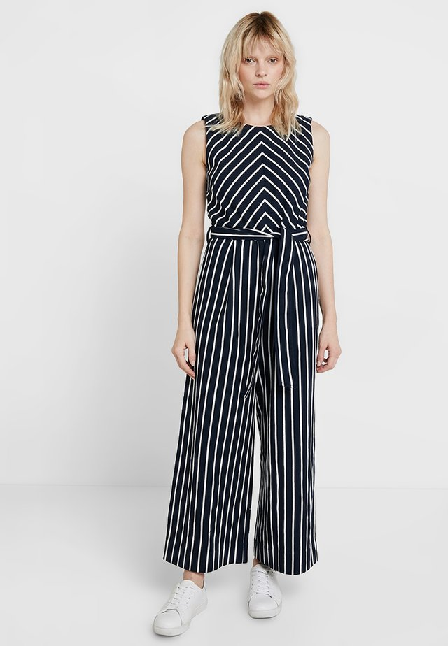 SLEEVELESS STRIPED - Jumpsuit - blues
