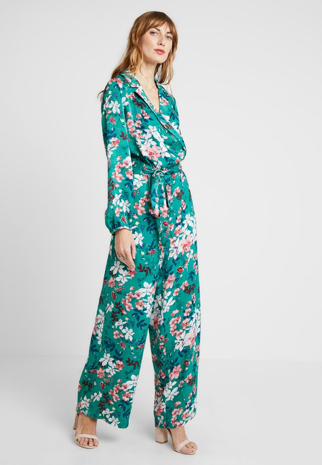 FLOWER PRINT - Jumpsuit - greens