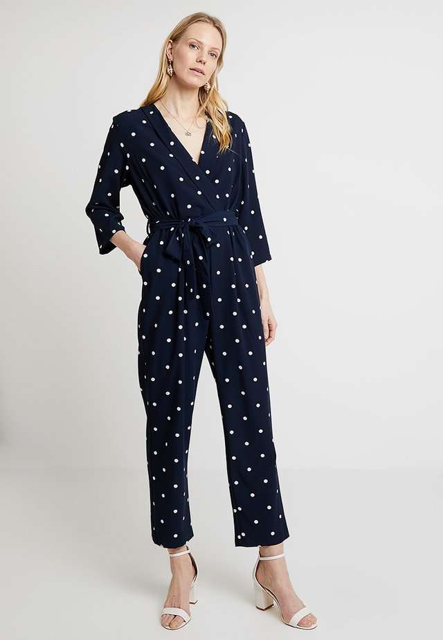 CROSSOVER WITH BELT - Jumpsuit - blues