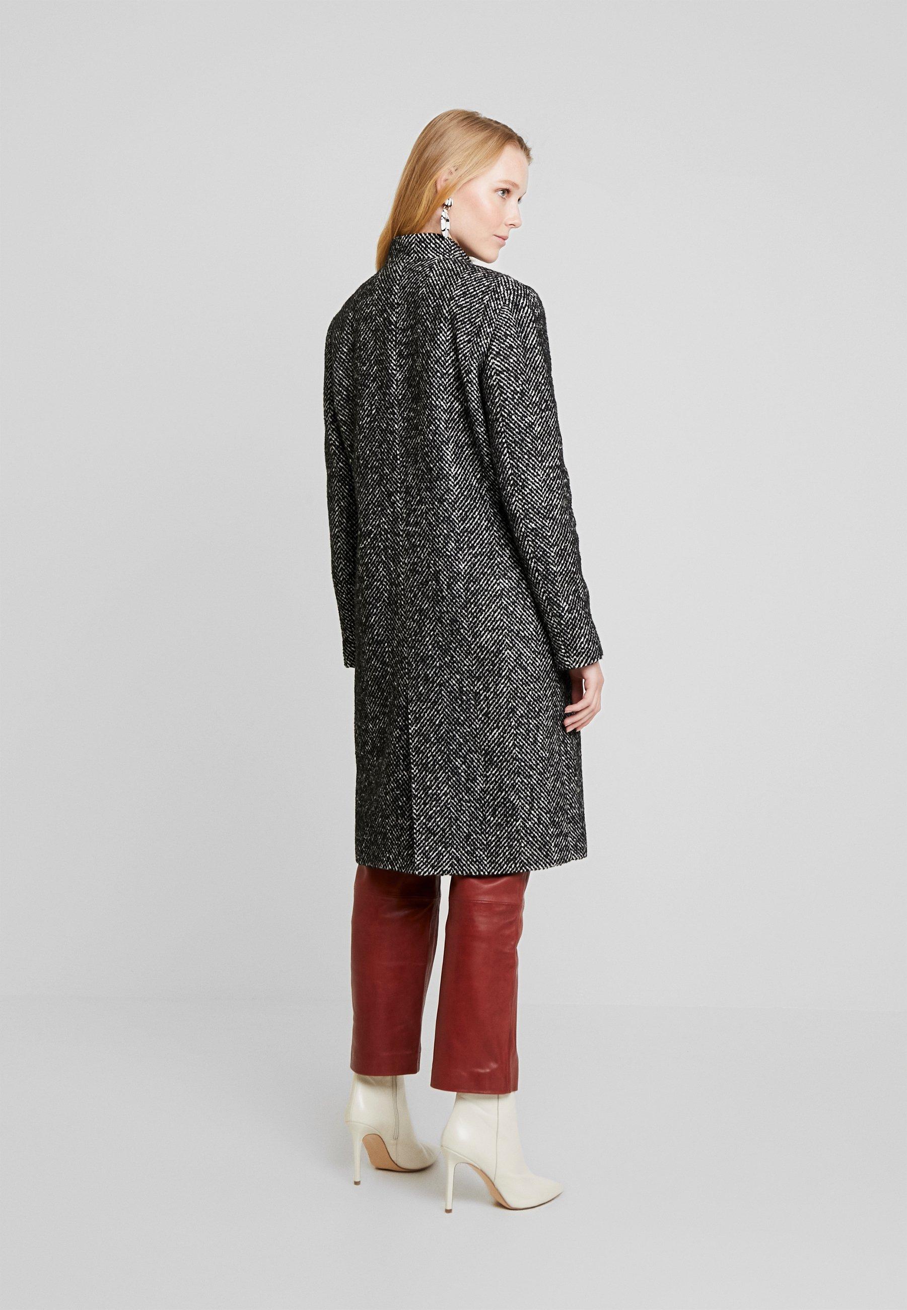 Tailored Herringbone Classique Long Greys Cortefiel CoatManteau c4q5jR3AL