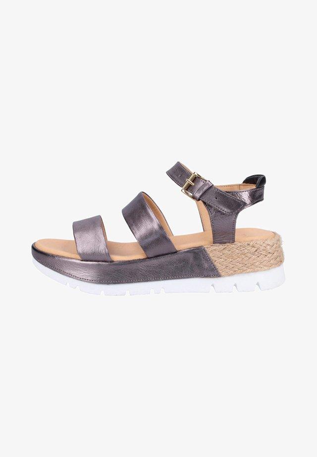 Wedge sandals - dark metal