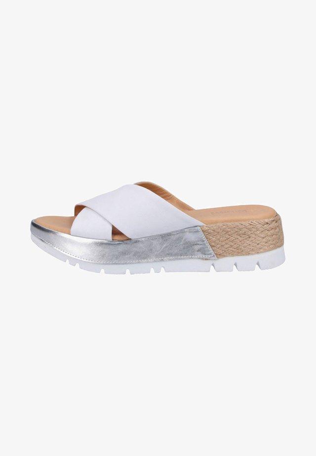Pantolette flach - white