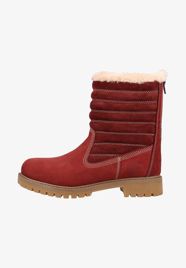 Winter boots - burgundy